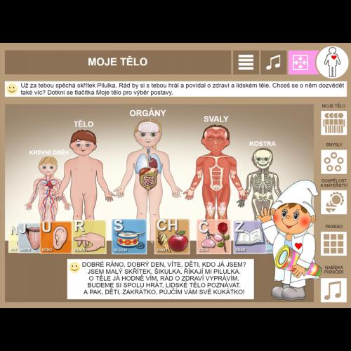 iŠkolička: interaktivní program Moje tělo