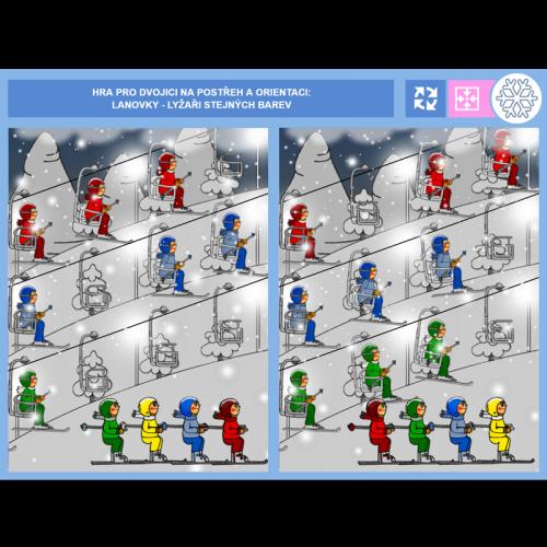 iŠkolička: hry pro dvojice Leden