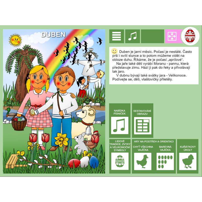 iŠkolička: interaktivní program Duben
