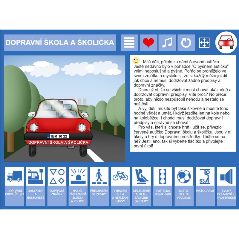 iŠkolička: interaktivní program Dopravní škola a školička