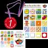 Komplet č. 2: Sešit Obrázková školička, samolepky a medaile na cestu do školy
