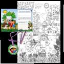 Komplet č. 10: vymalovánka - obraz A1 Květen, přání a medaile Jdu do školy