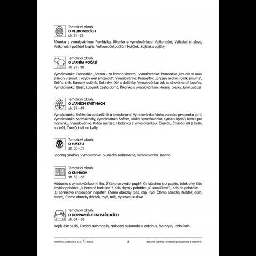 Tematické pracovní listy a náměty 5.